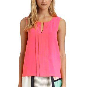 KATE SPADE Addie Silk Sleeveless Top Neon Coral